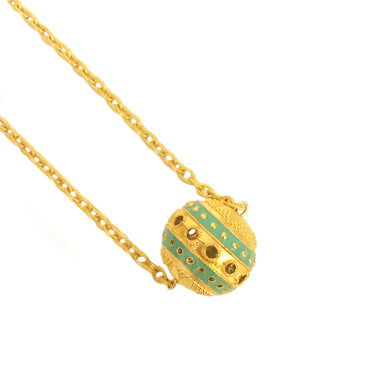 20 MM Bola Necklace with Enamel