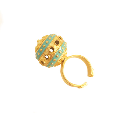 Bola Ring with Enamel
