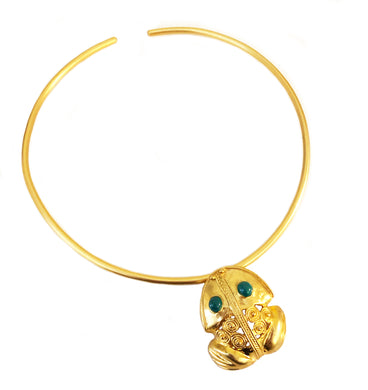 Coqui Pendant & Pin Choker Necklace with Enamel