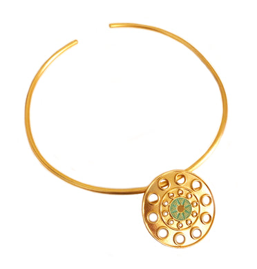 DeSol Pin & Pendant Choker with Enamel