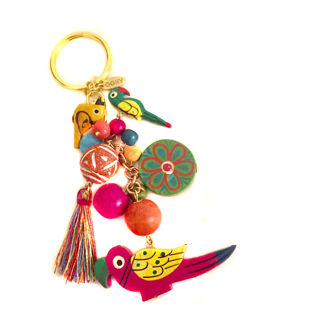 Renata Key Ring in Magenta
