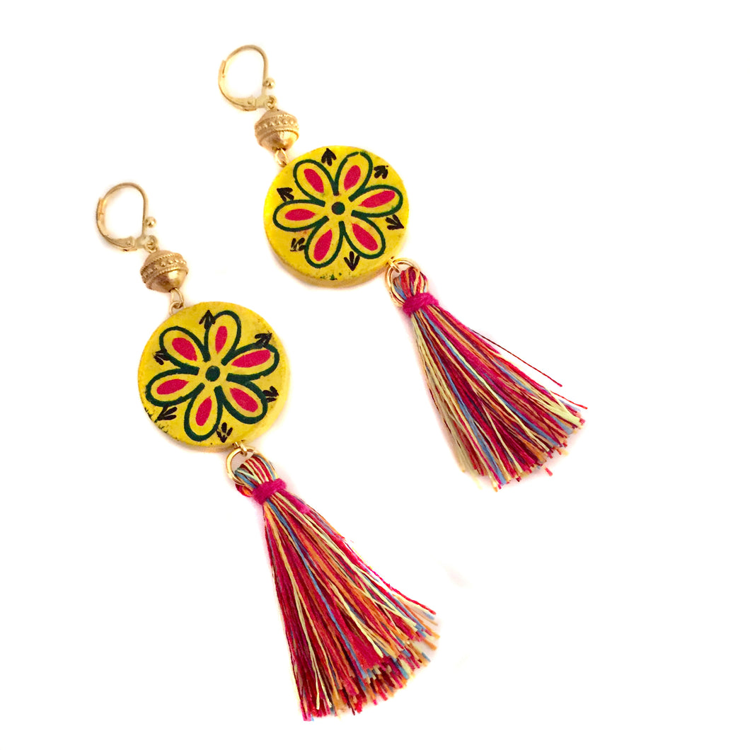 Flor Earring in Yellow