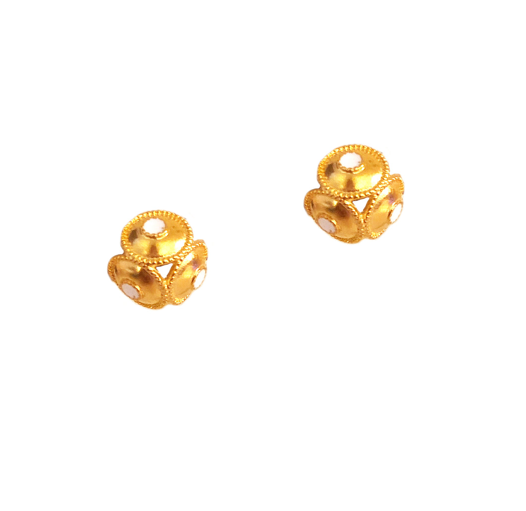 Orba Clip Earring with Enamel
