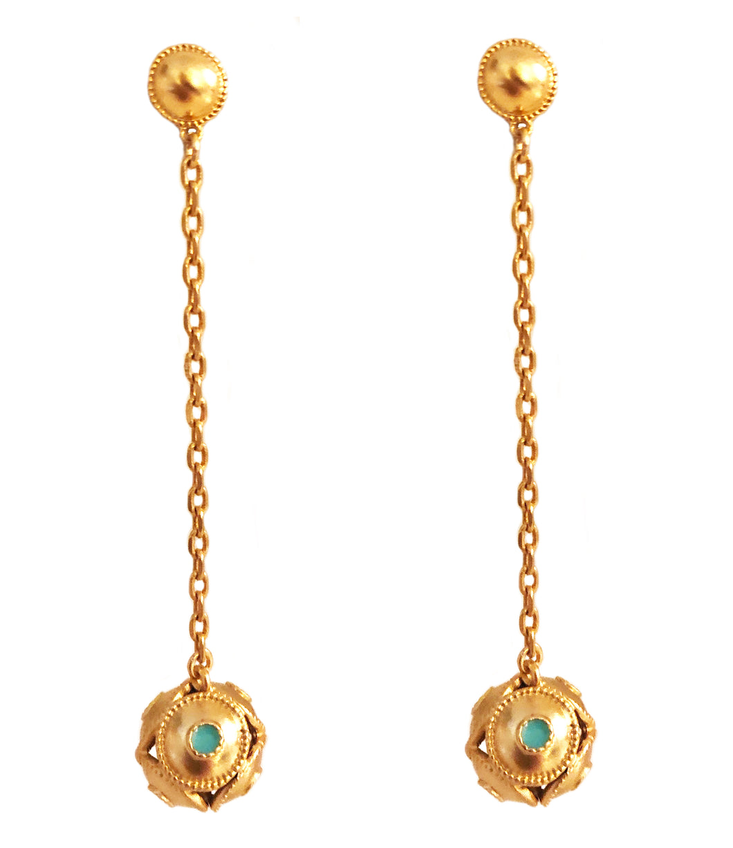 Orba Dangle Earring with Enamel