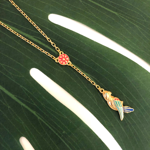GUACAMAYO CHARM  NECKLACE