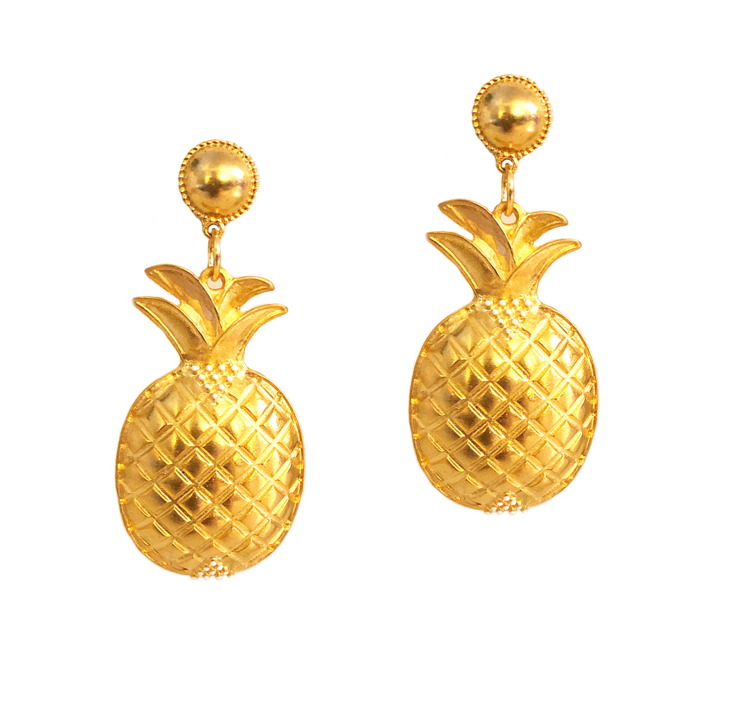 Piña Earring with Enamel