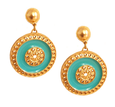 Sole Earring with Enamel