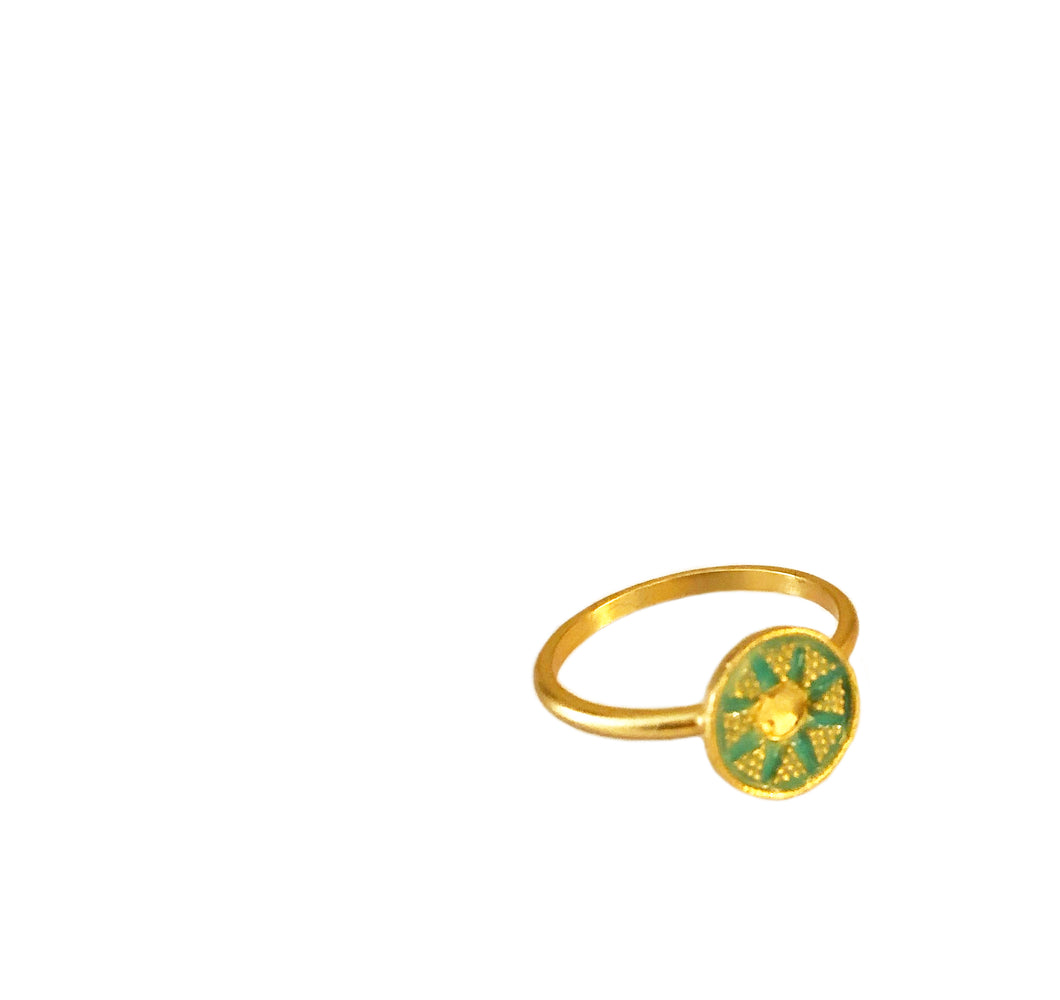 Soli Ring with Enamel