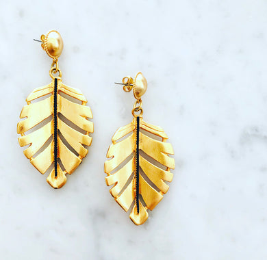 Hoja Earring in Fall Colors