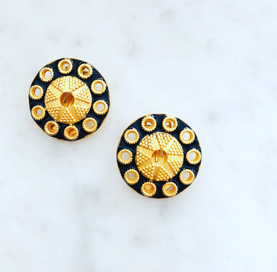 DeSoleil Clip Earring Large in Fall Colors