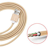 1.5M Micro Nylon Braided Metal USB Cable - CMK ELECTRONICS