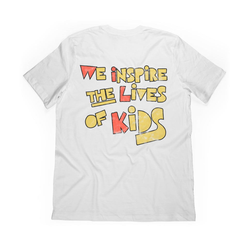 WE INSPIRE THE LIVES OF KIDS // TEE