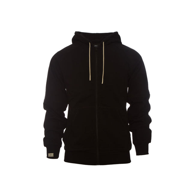 Publish Terry Zip Knit Hoodie-Black Front