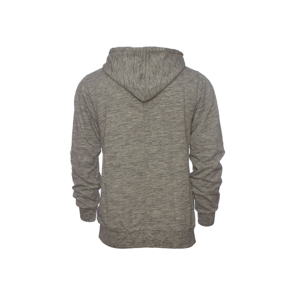 Publish Terry Zip Knit Hoodie-Grey Back