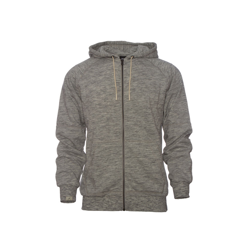 Publish Terry Zip Knit Hoodie-Grey Front