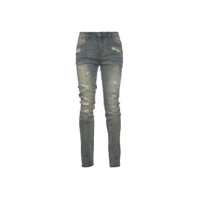 Stampd Distressed Skinny Fit Denim - Blu