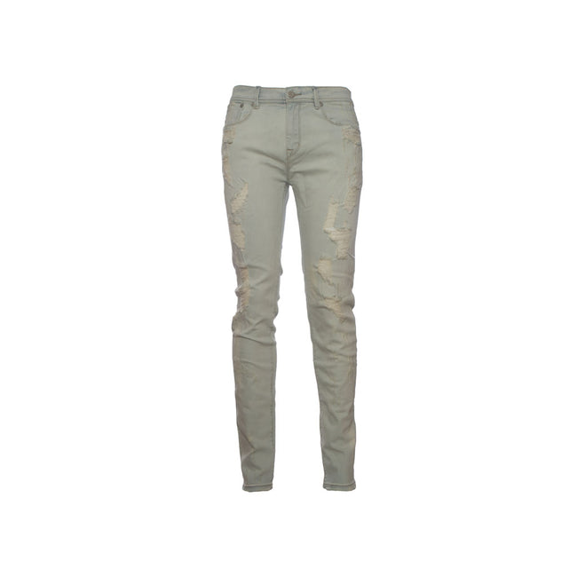 Stampd Distressed Skinny Fit Denim - Crm