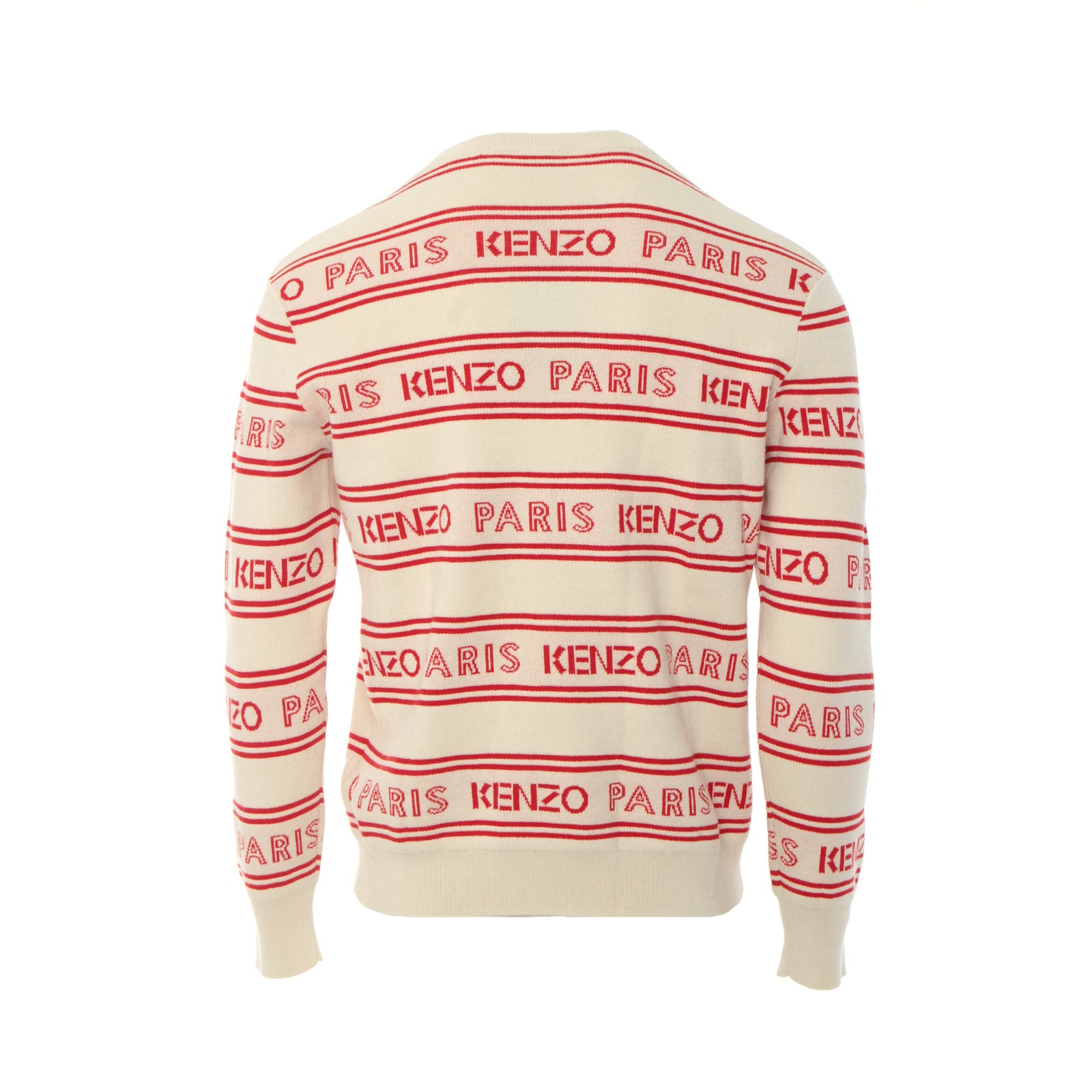 Kenzo Paris All Over Kenzo Jacquard Beige Red