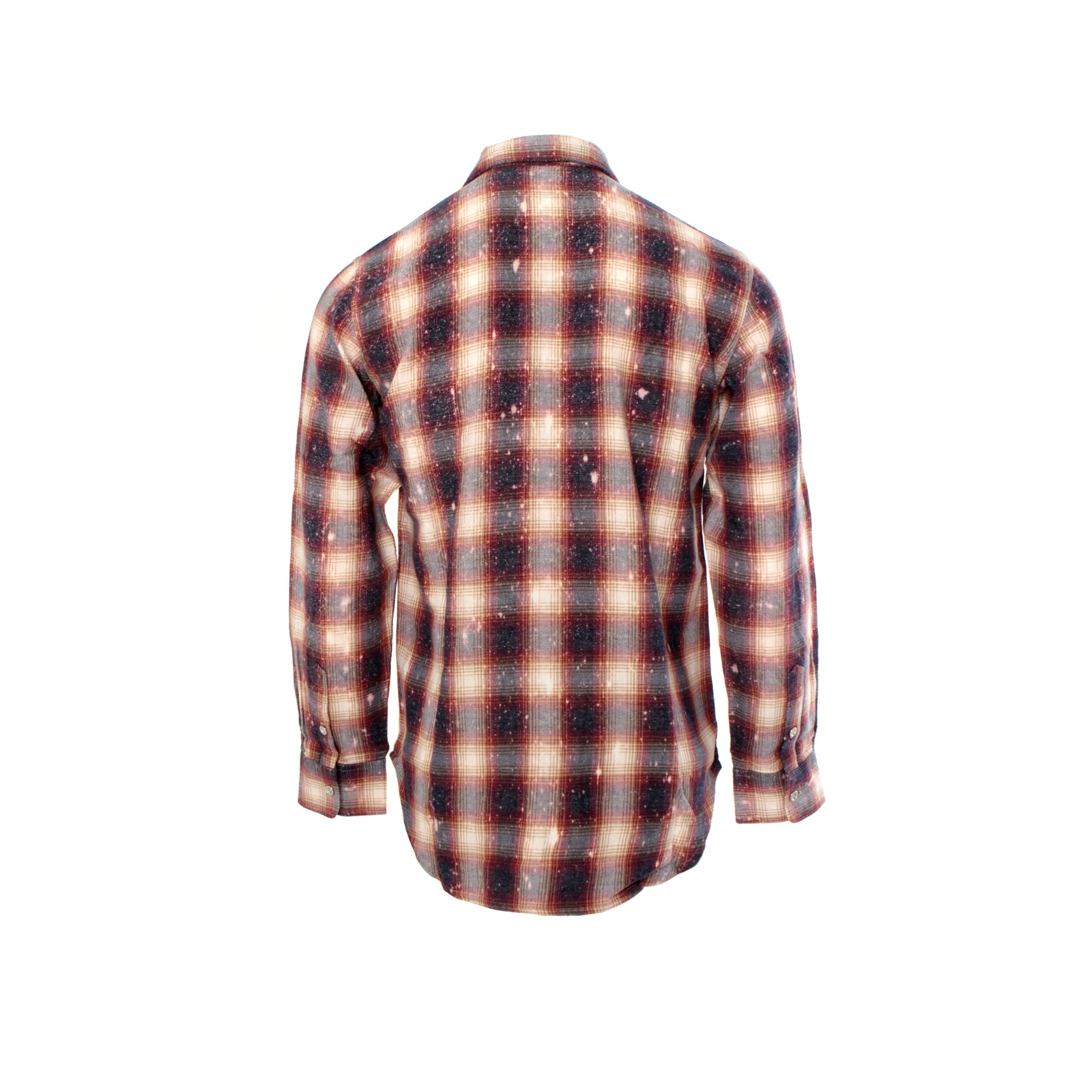 Purple Brand Bleached Plaid Men's Flannel Shirt Red