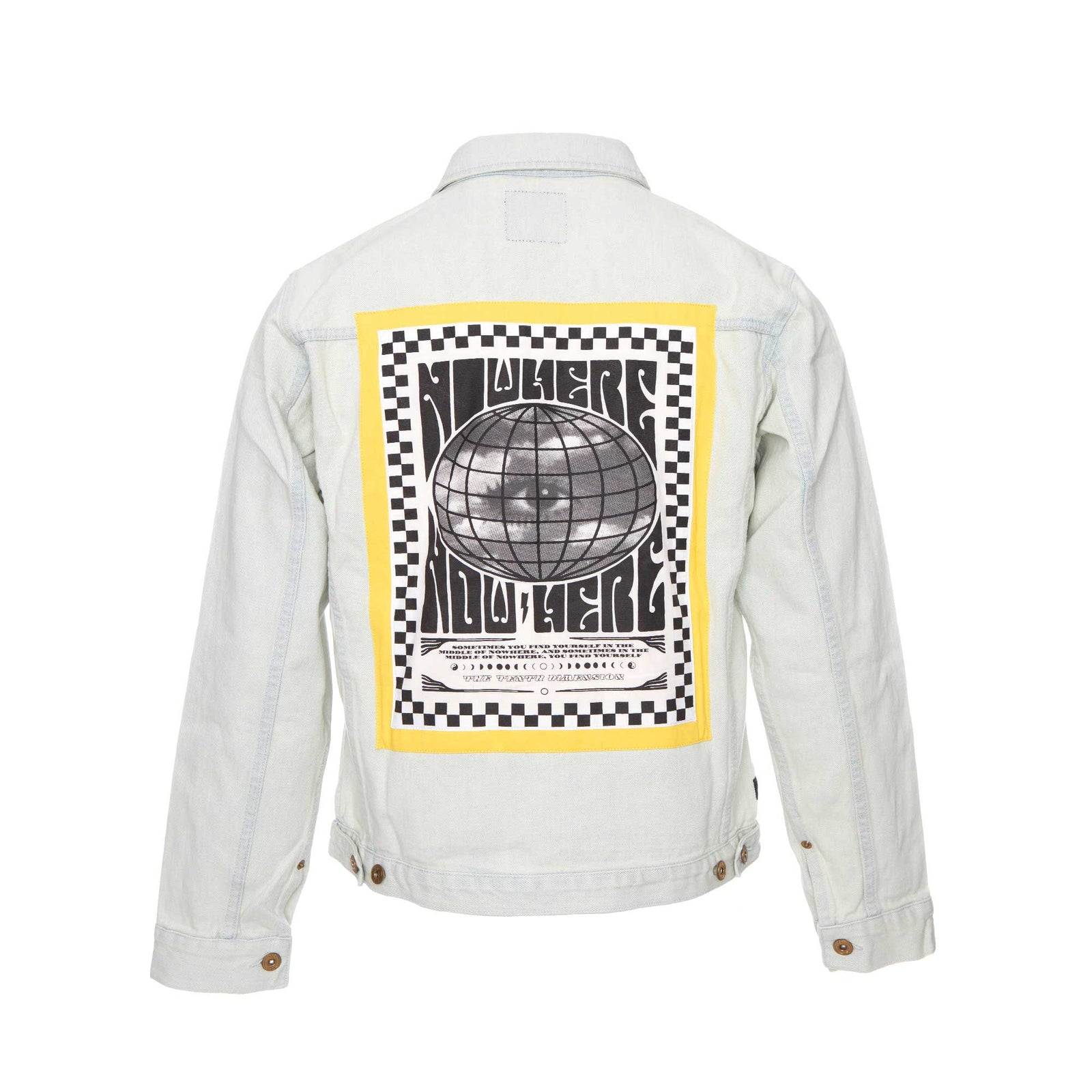 10 Deep Destination Unknown Denim Jacket Stone Wash.