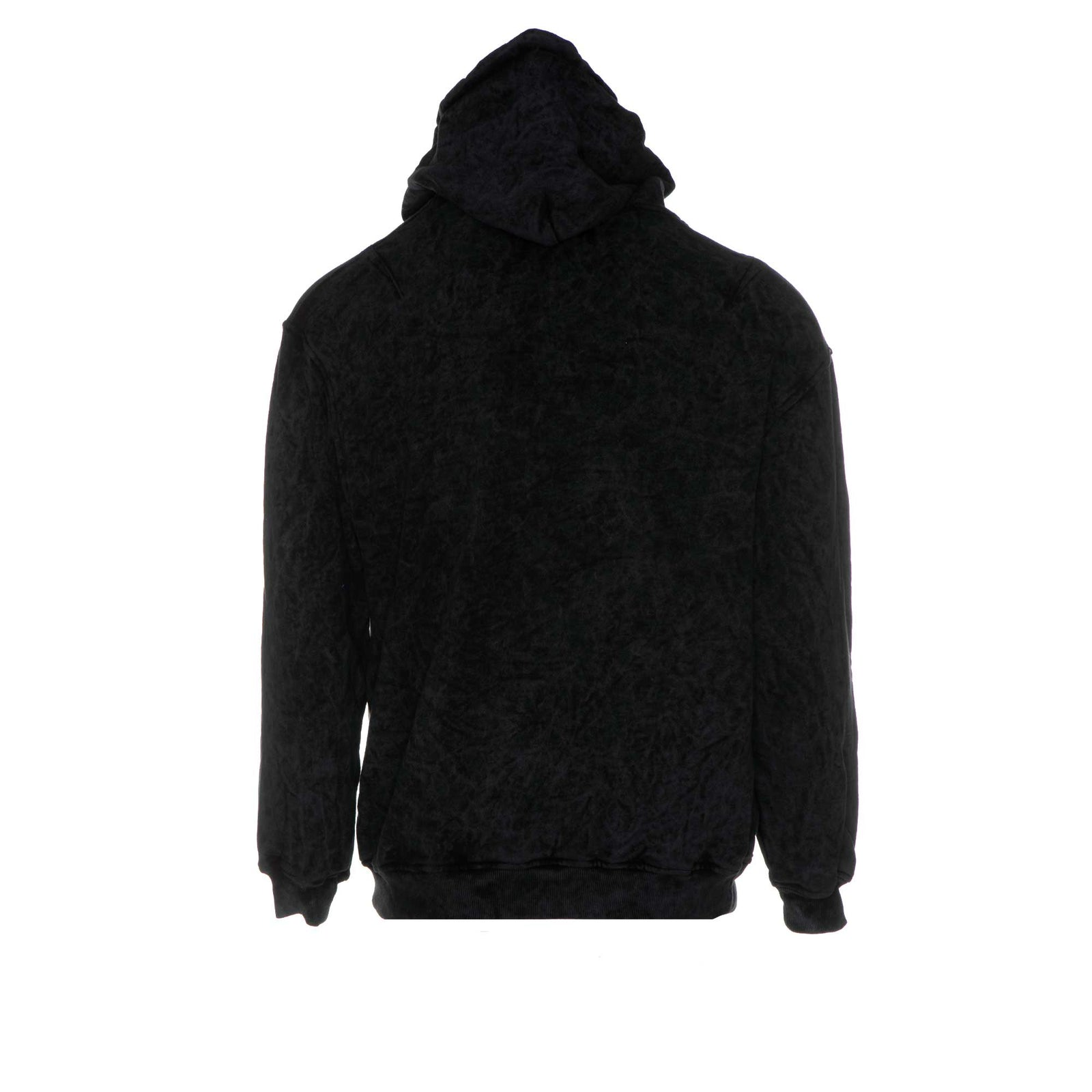 Represent Logo Hoodie Snow-Washed Black