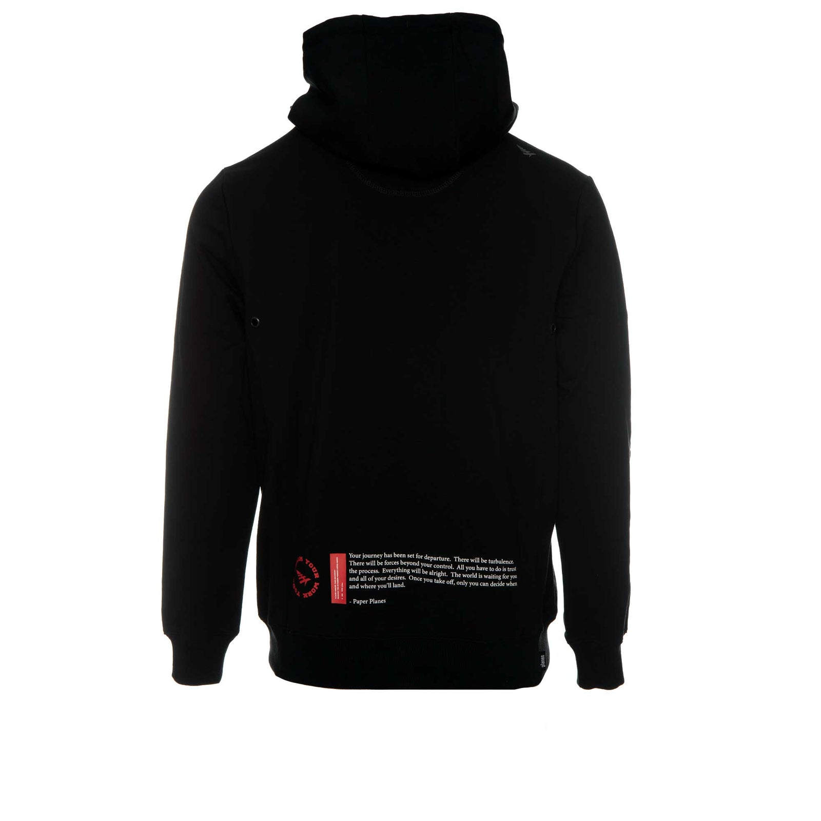 Paper Planes Clothing Passport Holder Men's Pullover Hoodie Black