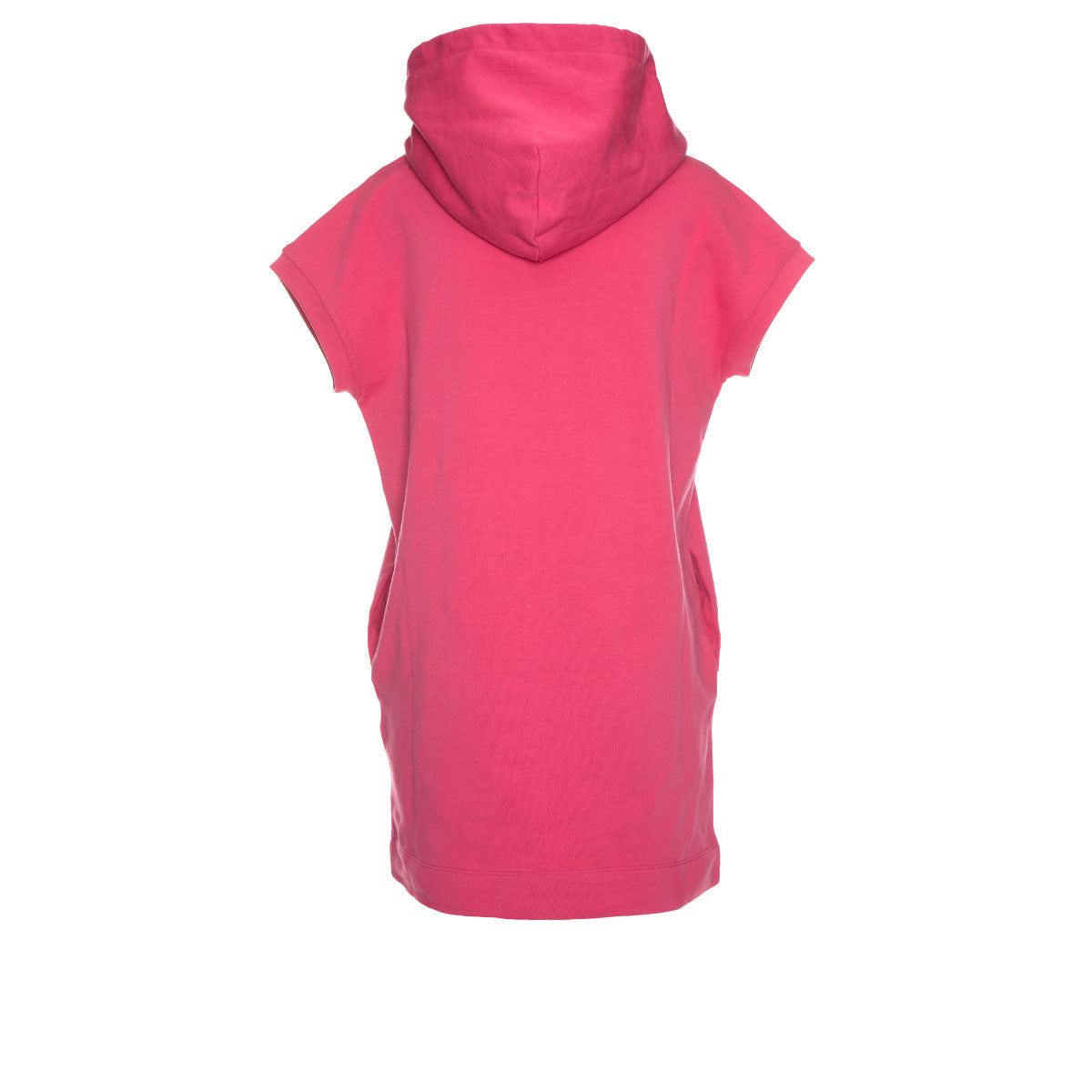 Cotton Fleece Sleeveless Dress with Hoodie