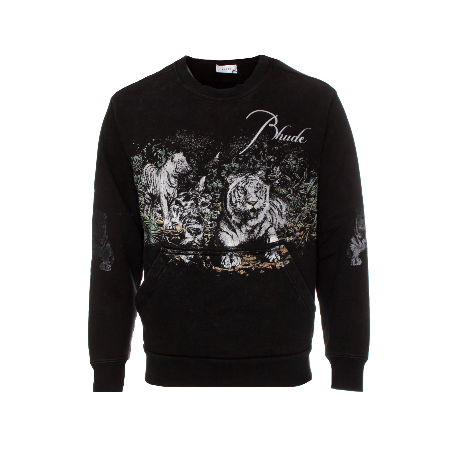 Rhude Lions Men's Crewneck Pullover Sweater