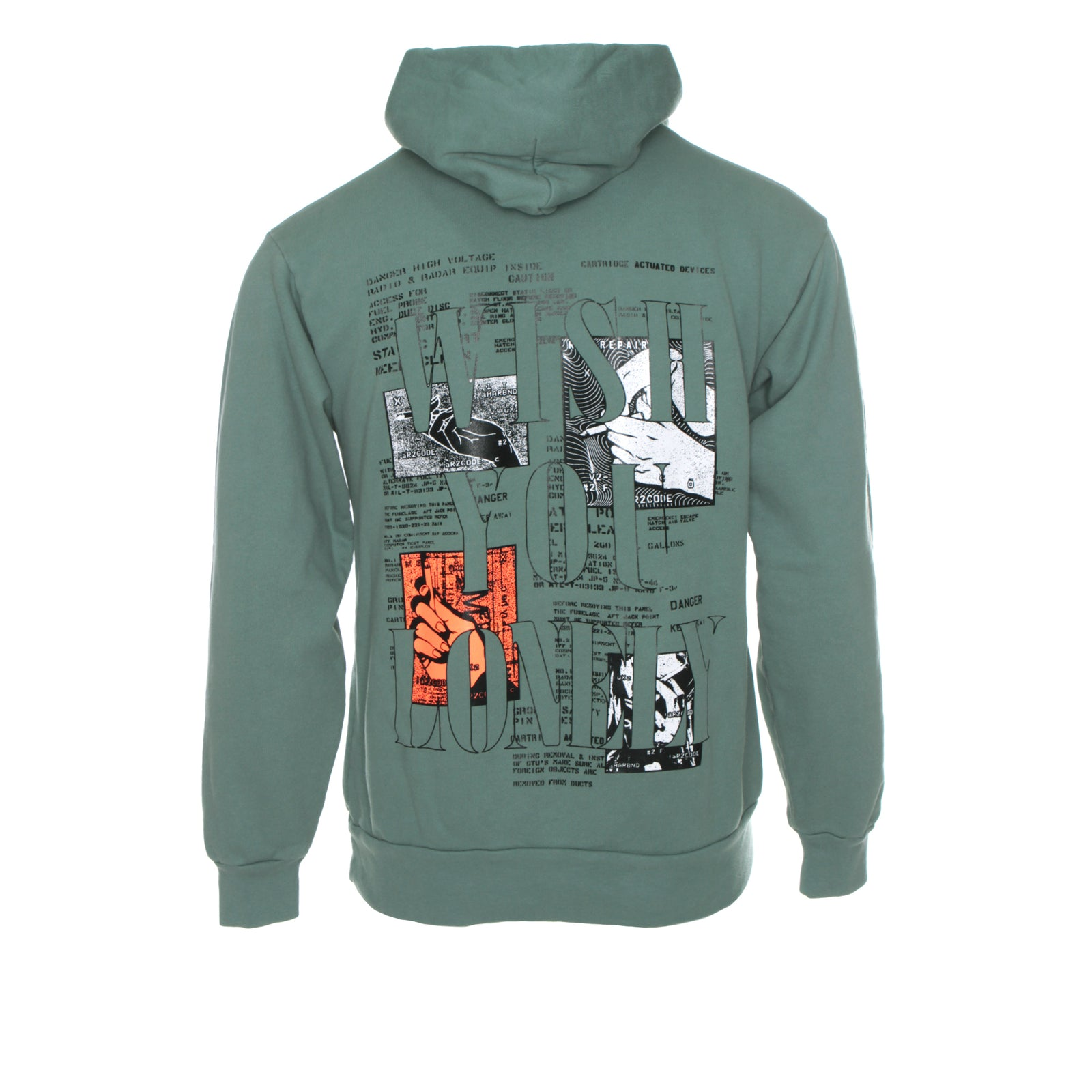 Rip & Repair Wish You Were Here Men's Hoodie Atlantic Green