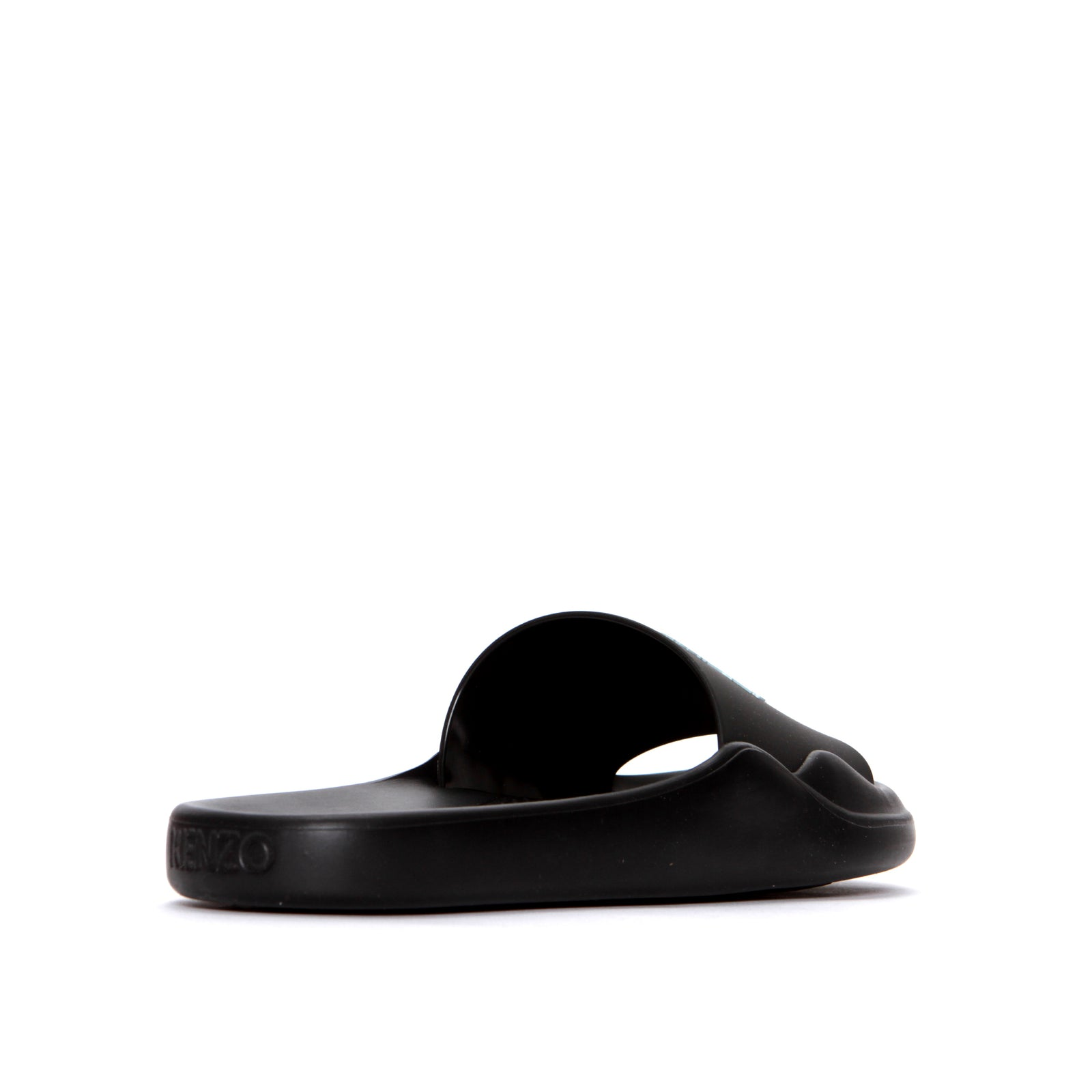 Kenzo Paris FW20 Pool Mule Tiger Head Men's Slides Black