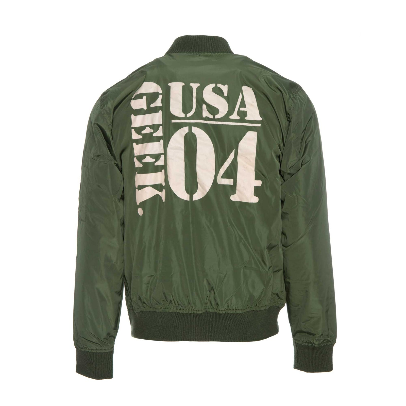 Fashion Geek by Alonzo Jackson Army Style Geek Jacket Dark Green
