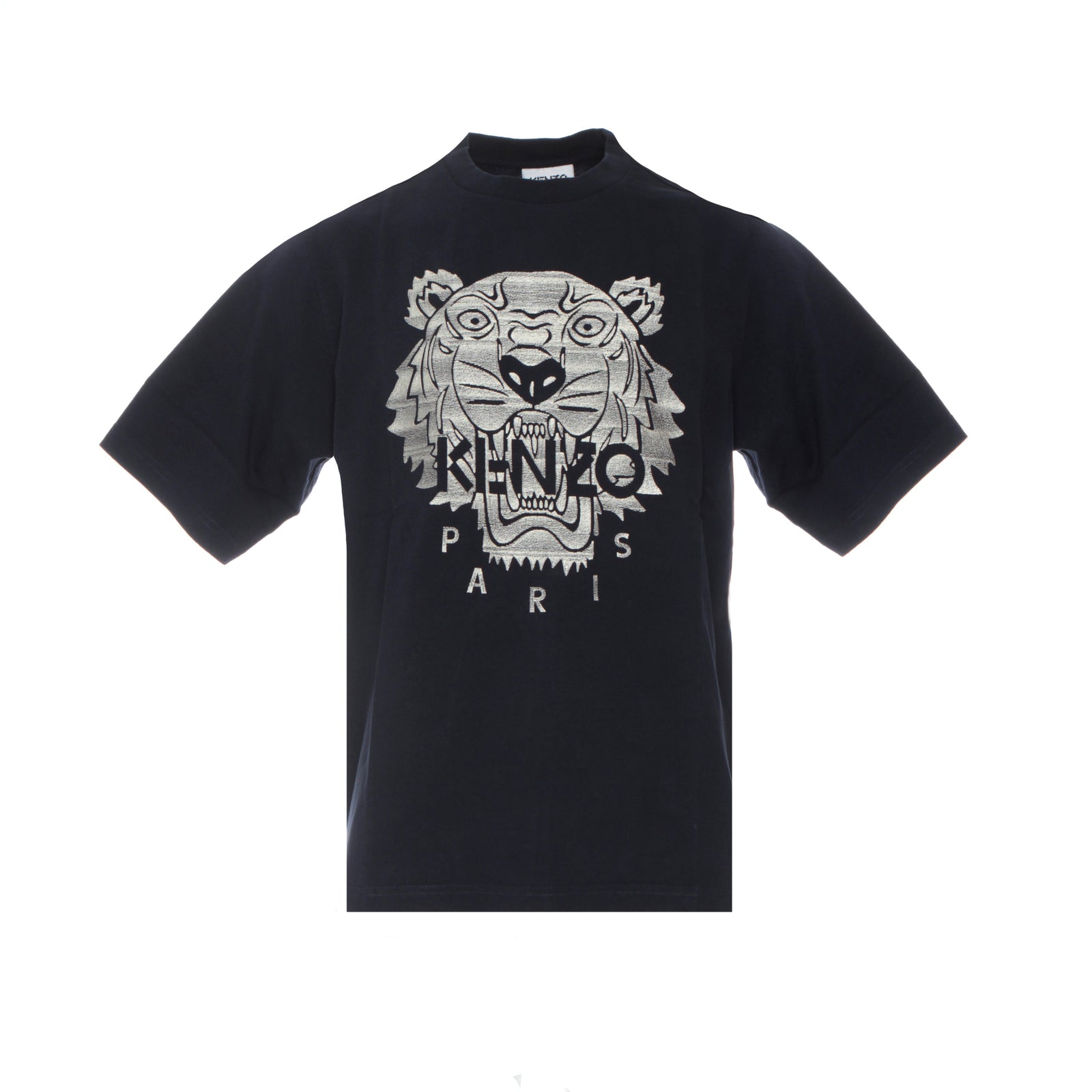 Kenzo Paris FW20 Stitched Tiger Men's T-Shirt Navy
