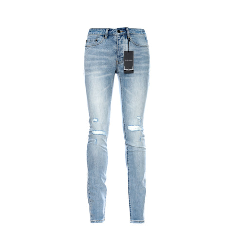 P001 French Blue Indigo Dirty Resin Jean