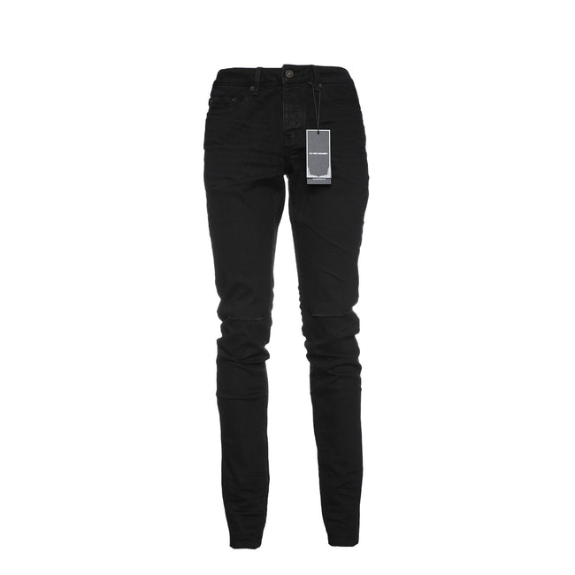 Six Week Residency Black Raw Desert Destroyed Men's Skinny Jeans
