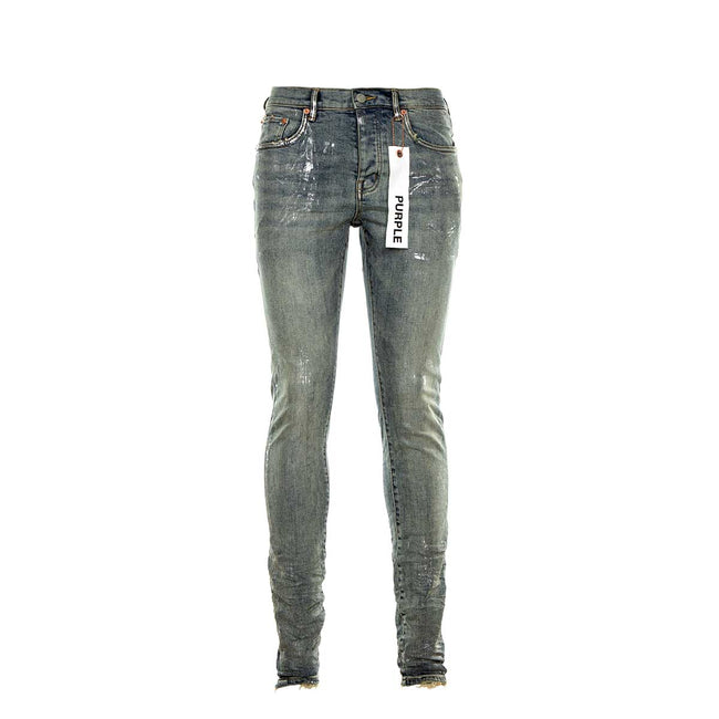 PURPLE P001 Light Indigo Metallic Jeans