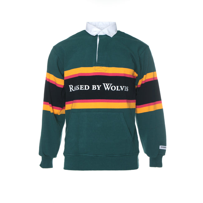 Raised by Wolves Barbarian Men's Rugby Sweater Teal