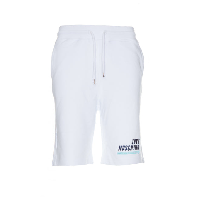 Love Moschino mens' shorts white