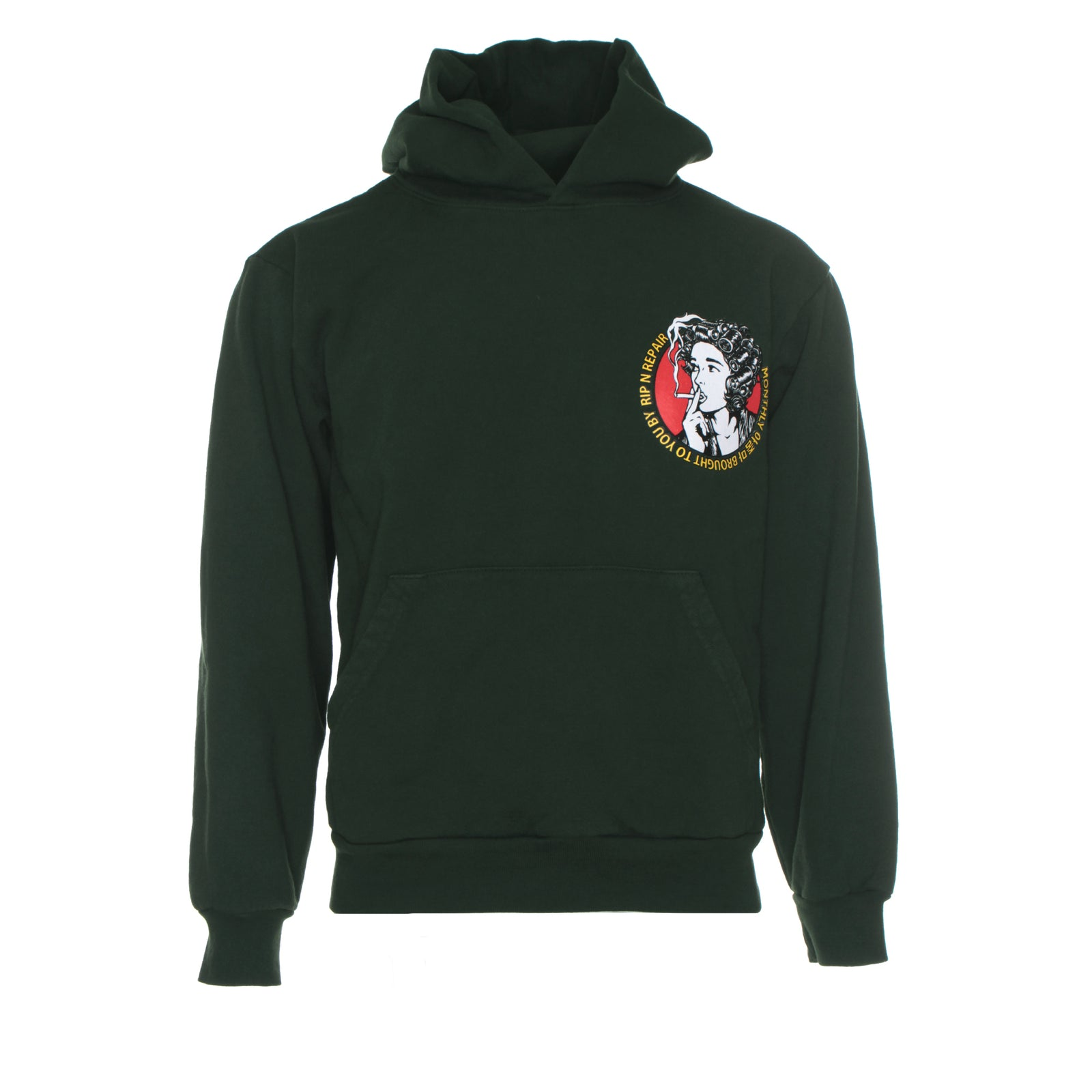 Rip & Repair Auntie Men's Heavy Fleece Hoodie Green