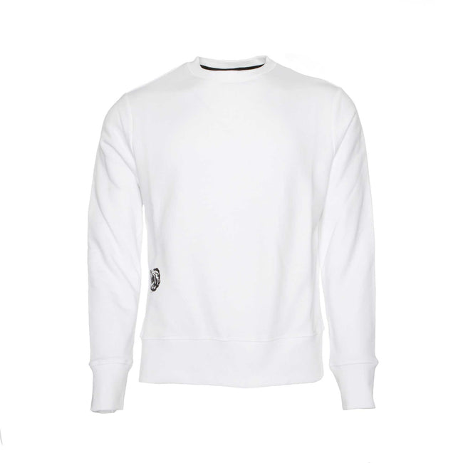 Tim Coppens Collage Crew Sweater White