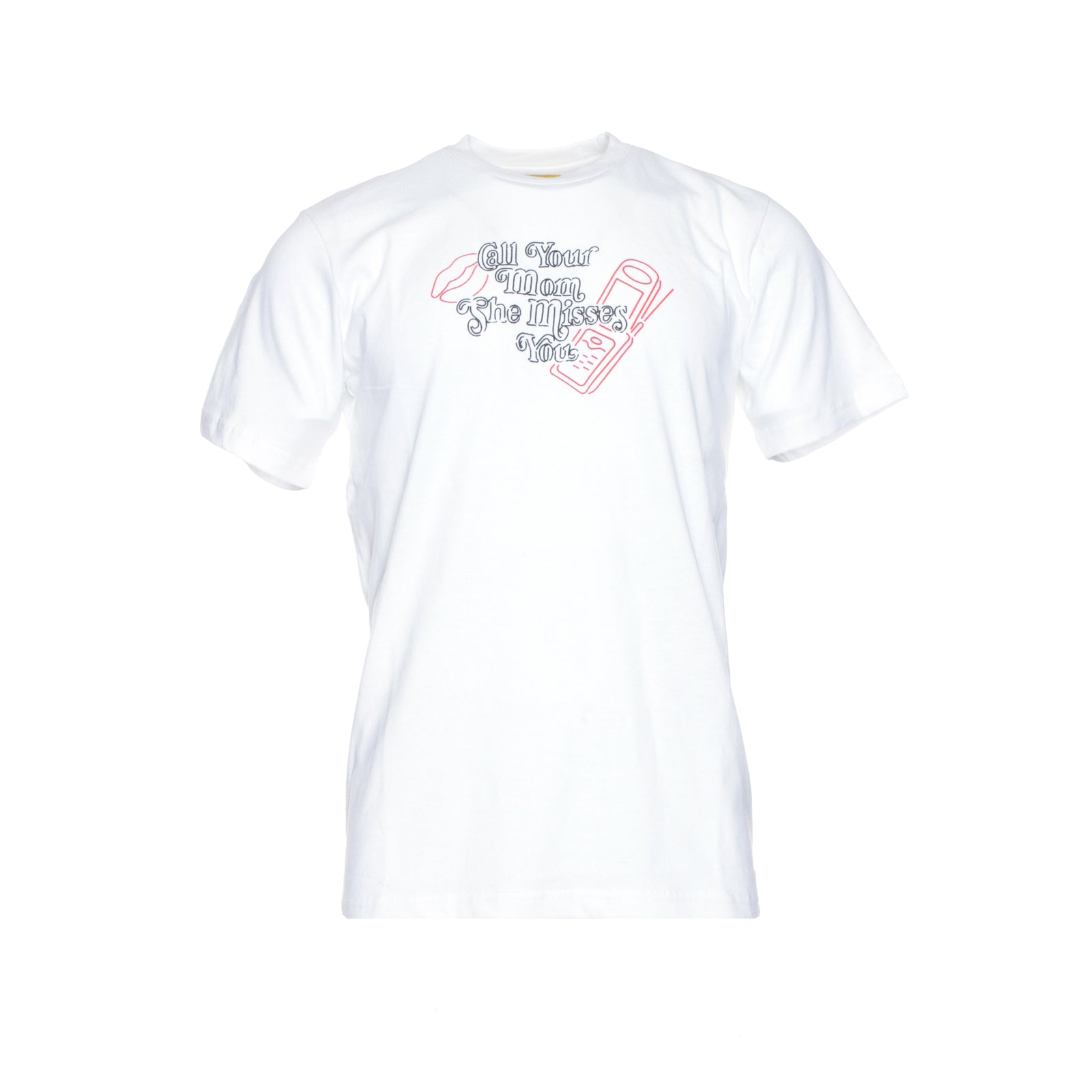 "Chinatown Market ""Call Your Mom"" Short Sleeve Men's Graphic Tee in White"