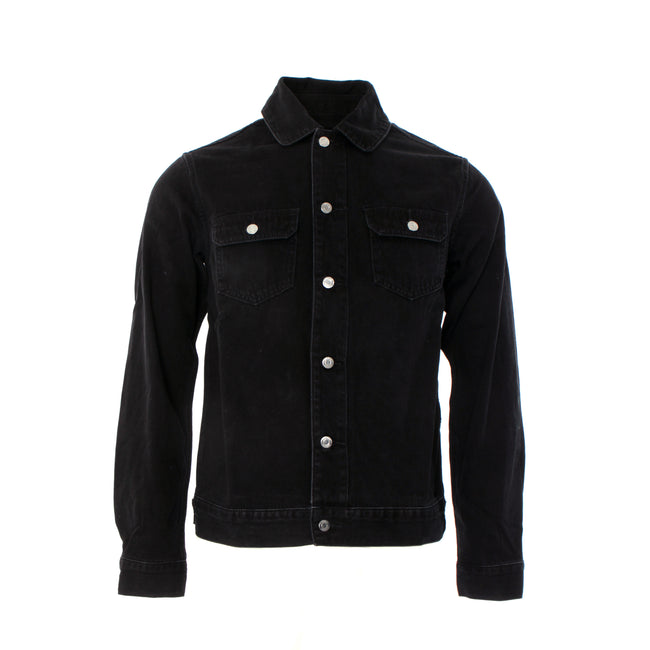 Purple Brand Denim P019 Black Denim Men's Shirt Jacket