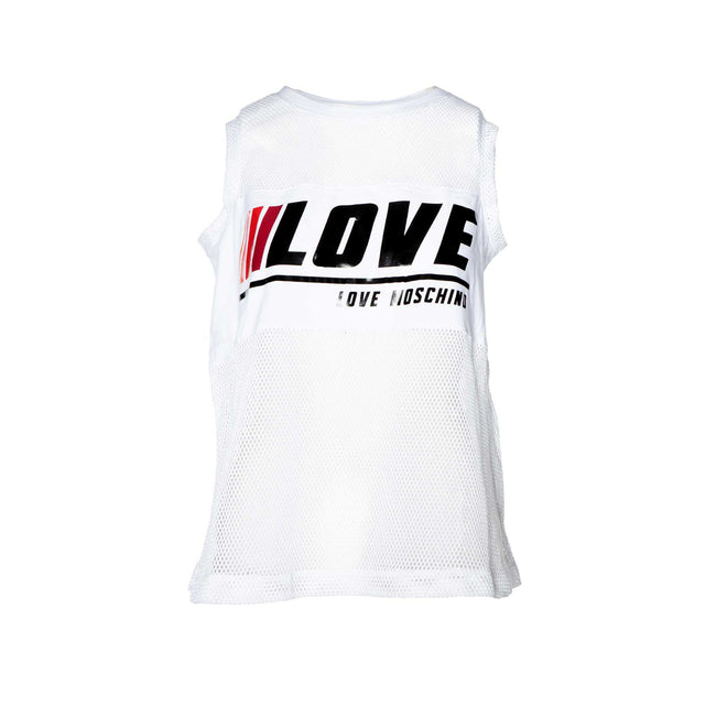 Love Moschino Mesh Jersey Tank Top With Logo