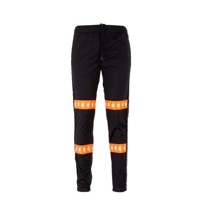 Kappa 222 Banda Canger Men's Track Pants Black/Neon Orange