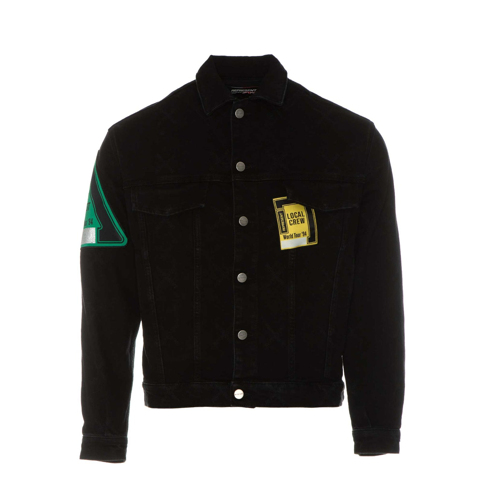 Represent Patch Denim Jacket - Black