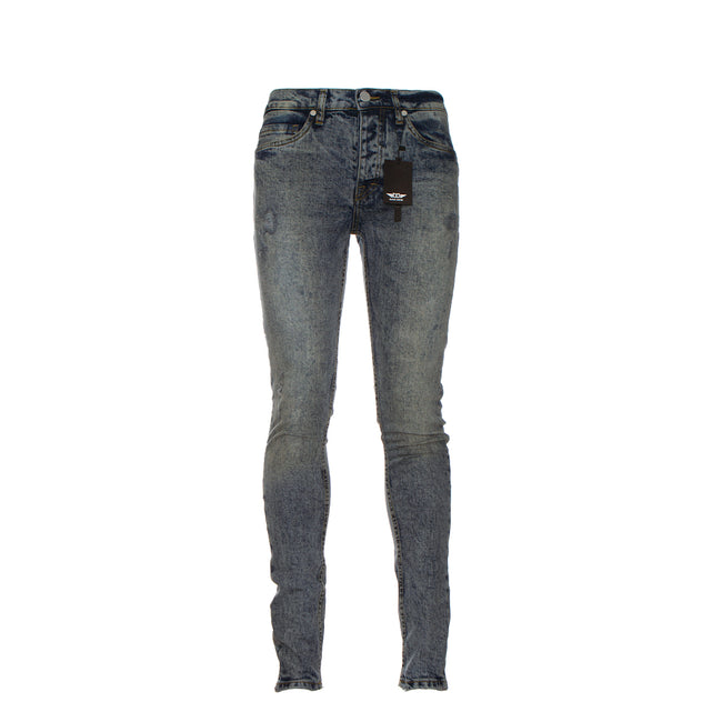 Black Denim Raw Skinny Men's Jeans