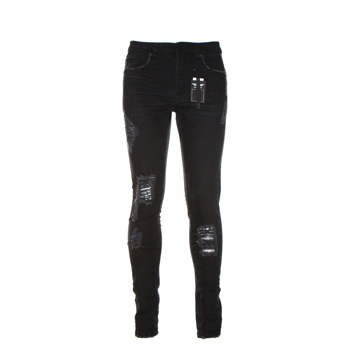 Black Denim Abyss Men's Skinny Jeans