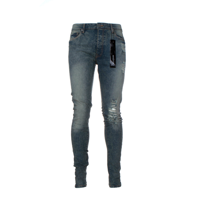 "Black Denim ""Sanction"" Men's Skinny Designer Jean"