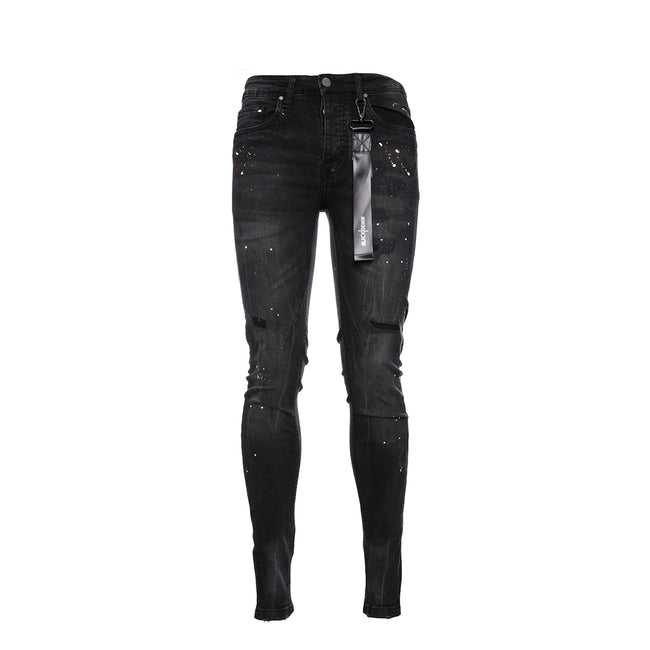 Black Denim Nemesis Men's Skinny Designer Jean