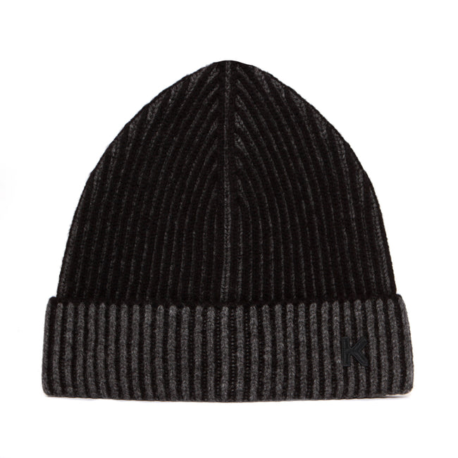 Kenzo Paris Yarn Knit Story Beanie Black