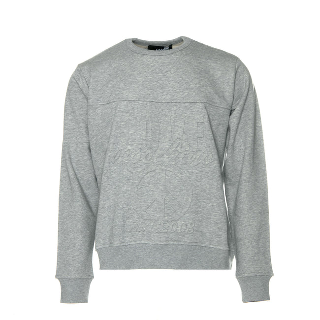 LOVE Moschino pressed on graphics men's pullover sweater.